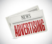 Advertising newspaper illustration — Stock Photo