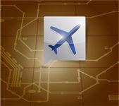 Airport locator illustration design — Stock Photo