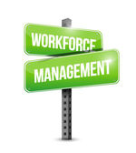 Workforce management signpost illustration design — Stock Photo