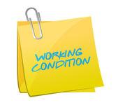 Working conditions post illustration design — Stockfoto