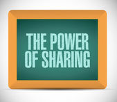 The power of sharing message illustration design — Stock Photo
