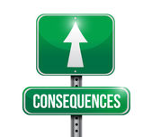 Consequences illustration design — Stock Photo