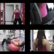 Multiple montage videos. Fitness exercise at the gym — Stock Video