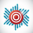 Arrows around a red target. illustration design — Stock Photo #45191649
