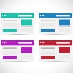 Different color set browser illustration design — Stock Photo #45191681