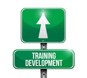 Training development signpost illustration design — Stock Photo