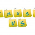 Trust us message illustration design — Stock Photo #45286785