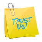 Trust us post message illustration design — Stock Photo #45286925