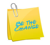 Be the change post message illustration design — Stock Photo