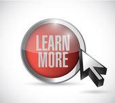Learn more button and cursor. illustration design — Stock Photo