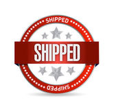 Shipped seal illustration design — Stock Photo