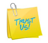 Trust us post message illustration design — Stock Photo