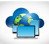 International technology cloud computing — Stock Photo