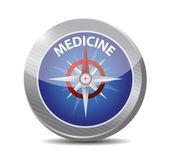 Medicine compass illustration design — Stock Photo