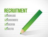 Projekt rekrutacji sprawdzić listę ilustracja — Zdjęcie stockowe