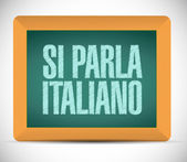 Italian is spoken. sign message illustration — Stock Photo