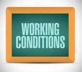 Working conditions sign message illustration — Stock Photo