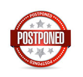 Postpone red seal illustration design — Stockfoto