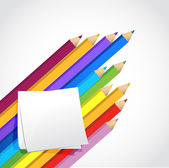 Colors and post illustration design — Stock Photo