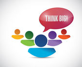 Think big group of people illustration design — Stock Photo