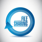 File sharing cycle illustration design — Stock Photo