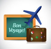 Bon voyage oder sichere reise reisen illustration design — Stockfoto