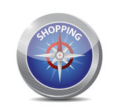 Compass guide to shopping illustration design — Stok fotoğraf