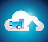 Cloud computing connection electronics concept. — Stock Photo