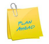 Plan ahead post message illustration design — Stock Photo