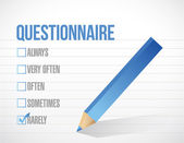Questionnaire check tick mark selection — Stock Photo