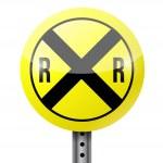 Crossing warning sign illustration design — Stock Photo #45950189