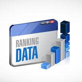 Web ranking stats business illustration design — Stock Photo