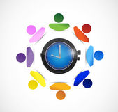 Diversity people and time concept illustration — Stock Photo