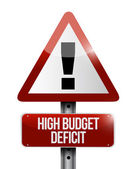 High budget deficit warning sign illustration — Stock Photo