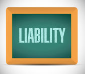 Liability sign message illustration design — Stock Photo