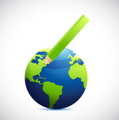 Globe och färgen blyerts bild design — Stockfoto