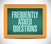 Frequently asked questions message illustration — Stock Photo