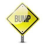 Bump yellow sign illustration design — Stock Photo #46091149