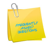 Frequently asked questions post illustration — Stock Photo