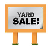 Yard sale sign illustration design — Stockfoto