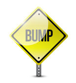 Bump yellow sign illustration design — Stockfoto