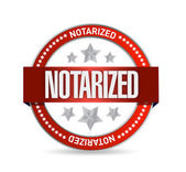 Notarized seal illustration design — Stock Photo