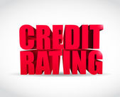 Credit rating 3d text sign illustration design — Stock Photo