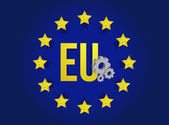 European union industrial flag illustration design — Photo