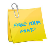 Free your mind post illustration design — Stock Photo
