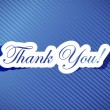 Thank you card illustration design — Stock Photo #46311939