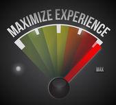 Maximize experience illustration design — Stockfoto