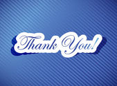 Thank you card illustration design — Stockfoto