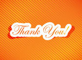 Thank you card illustration design — Stock Photo