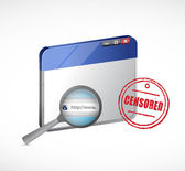 Censored web browser illustration design — Stock Photo